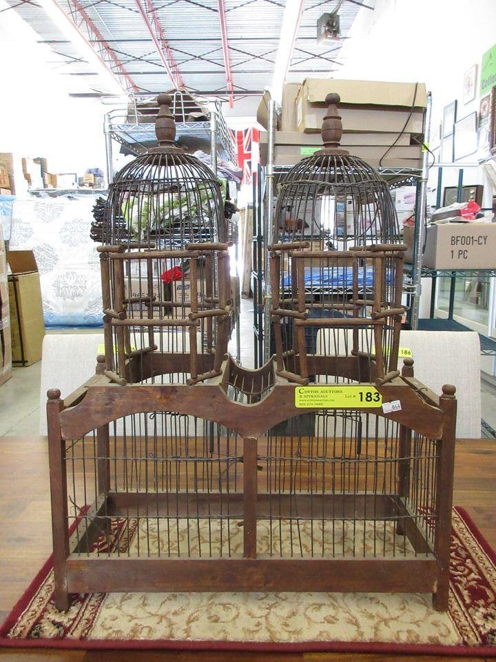 Decorative Wood Bird Cage