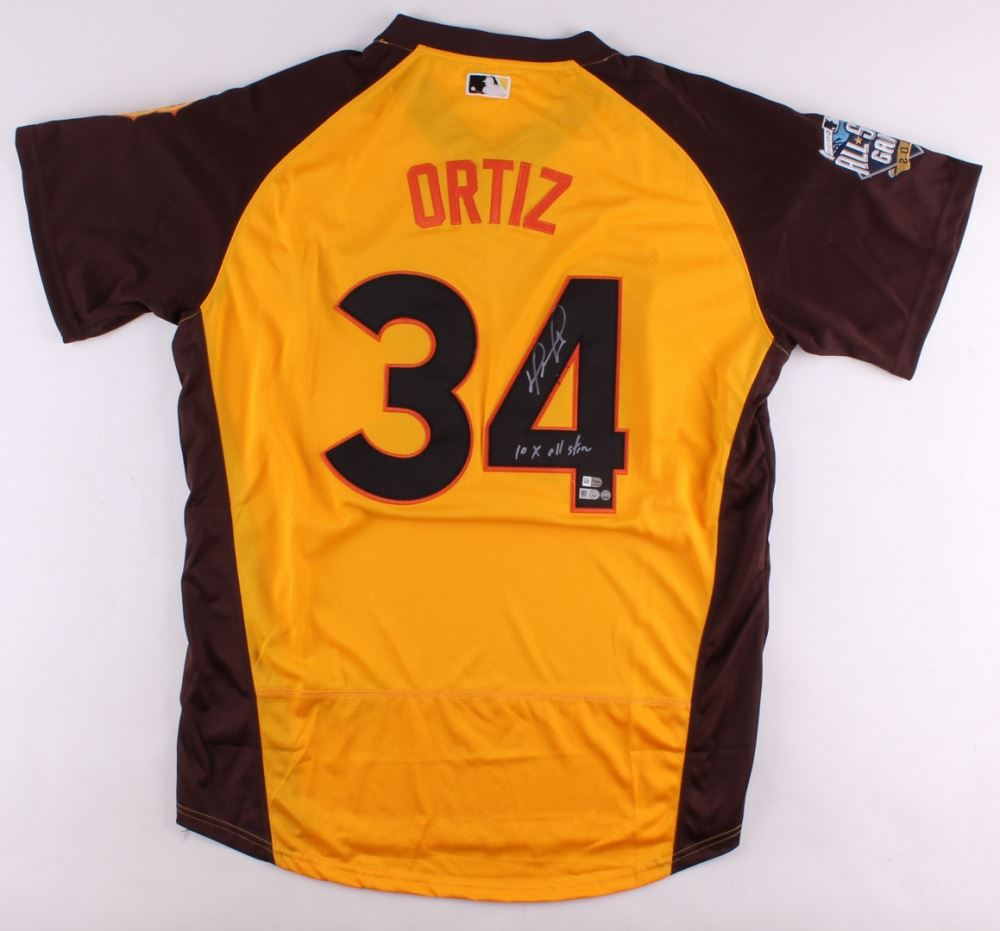 2a59ab2afbb Image 1   David Ortiz Signed Authentic 2016 All Star Game Jersey Inscribed