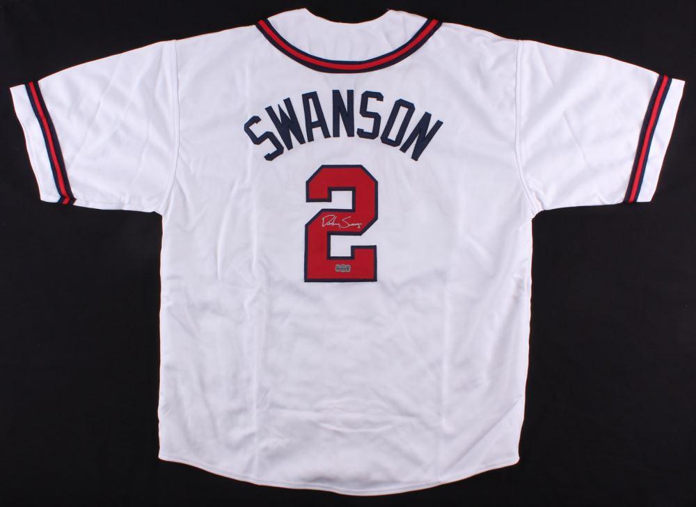 size 40 04449 afa9d Dansby Swanson Signed Braves Jersey (Radtke COA)