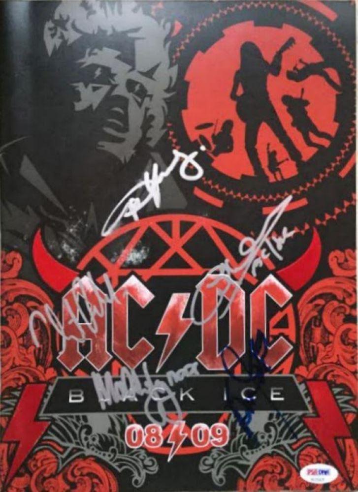 a118d9e131 AC DC Black Ice Original Tour Program Signed by (5) with Phil Rudd ...
