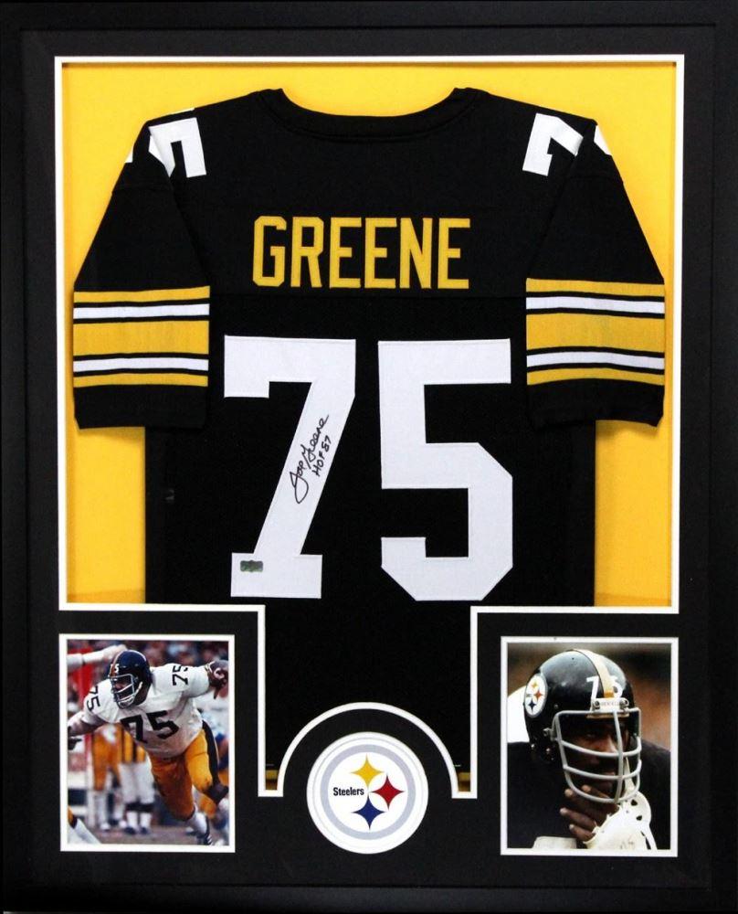 f0568c41a Image 1   Joe Greene Signed Steelers 34x42 Custom Framed Jersey Inscribed