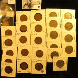 (17) 1919-20P Lincoln Cents in holders; & (10) 1936 P Carded Buffalo Nickels.