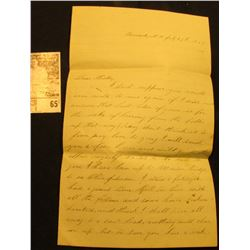 July 29, 1863 Civil War Letter from Concord, N.H., which speaks of a Charles, whose regiment was cut