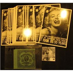 "Group of (20) ""Permanent Charities"" Post Cards depicting Marilyn Monroe, All mint condition; & 12 1/"