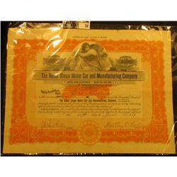 "2000 Shares ""The Baker Steam Motor Car and Manufacturing Company"" Stock Certificate with Motor car i"