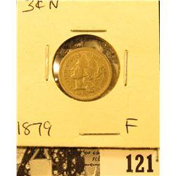 1879 U.S. Three Cent Nickel, Fine.