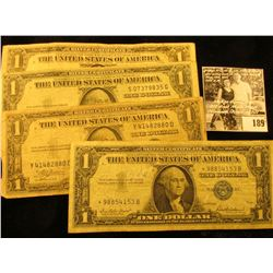Series 1935A, Series 1935E, & Series 1935C U.S. One Dollar Silver Certificates; & a Series 1957 Star
