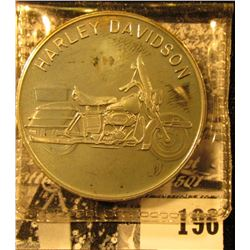 """Harley Davidson"" One Ounce .999 Fine Silver Medallion. BU."