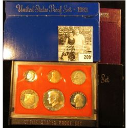 1982 S, 1983 S, & 1984 S U.S. Proof Sets, all in original boxes as issued.