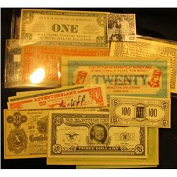 "(15) Different pieces of Satirical, Political, or Advertising ""Spoof"" Money."