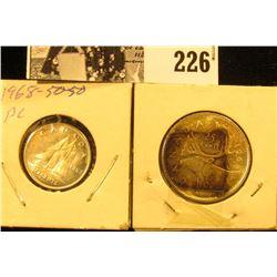 1968 Canada Dime & Quarter, .500 fine Silver, BU.