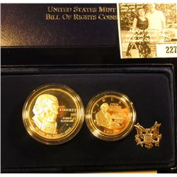 "1993 ""Bill of Rights Commemorative Coins Two-Coin Proof Set. Original as issued."