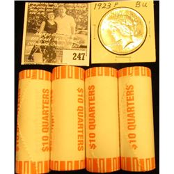 (4) Original BU Bank-wrapped Rolls of 2003 D Missouri Statehood Commemorative Quarters; & 1923 P U.S