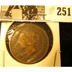 1859 Canada Large Cent, Fine.