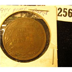 1914 Canada Large Cent, Very Weak Strike variety.