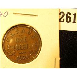 1920 Canada Small Cent, AU.