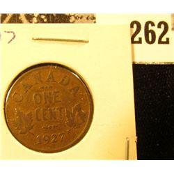 1927 Canada Small Cent, Fine.