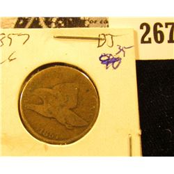 1857 U.S. Flying Eagle Cent, VG.