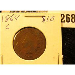 1864 Civil War Indian Cent, Good.