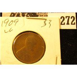 1909 P U.S. Wheat back Cent,Very Good.