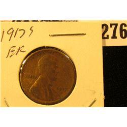 1917 S U.S. Wheat back Cent, EF.