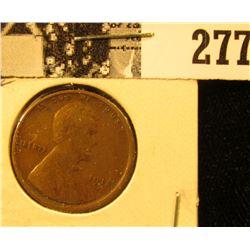1918 S U.S. Wheat back Cent, EF.