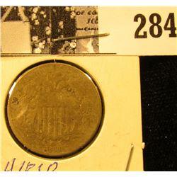 1868 U.S. Shield Nickel, Good.