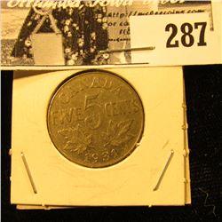 1931 Canada Nickel, EF.