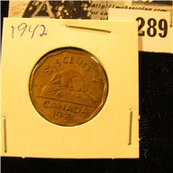 1942 Canada Nickel, Copper World War II variety, EF.