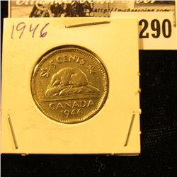 1946 Canada Nickel, EF.