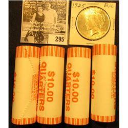 (4) 2006 D Solid Date Rolls of Gem BU Nebraska Statehood Commemorative Quarters in bank-wrapped Roll