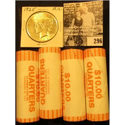 (4) 2005 D Solid Date Rolls of Gem BU California Statehood Commemorative Quarters in bank-wrapped Ro