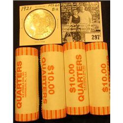 (4) 2005 D Solid Date Rolls of Gem BU West Virginia Statehood Commemorative Quarters in bank-wrapped