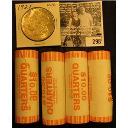 (4) 2005 D Solid Date Rolls of Gem BU Oregon Statehood Commemorative Quarters in bank-wrapped Rolls;