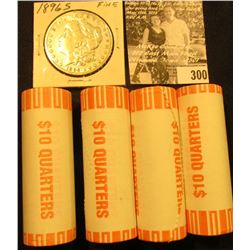 (4) 2002 D Solid Date Rolls of Gem BU Louisiana Statehood Commemorative Quarters in bank-wrapped Rol