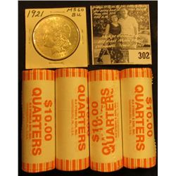 (4) 2006 D Solid Date Rolls of Gem BU South Dakota Statehood Commemorative Quarters in bank-wrapped