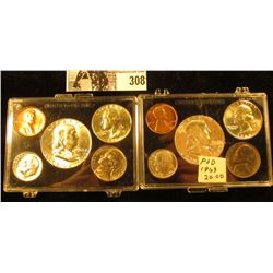 1963 P & D U.S. Gem BU Year Set in a pair of Snaptight cases. (10 pcs.)
