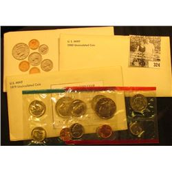 1979, 1980 & 1981 U.S. Mint Sets, all original as issued.