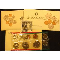 1980, 1989 & 1992 U.S. Mint Sets, all original as issued.