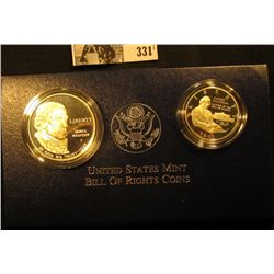 1993 Bill of Rights Two-Coin Commemorative Proof Set in original box with certificates.
