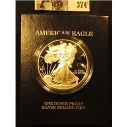 2000 P U.S. Proof Silver American Eagle One Ounce .999 fine Silver Dollar in original box of issue w