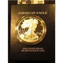 1999 P U.S. Proof Silver American Eagle One Ounce .999 fine Silver Dollar in original box of issue w