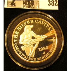 The Silver Capital/Coeur D'Alene Mining District/1983 ,  Sunshine Mining/One/Troy Ounce/.999 Fine S