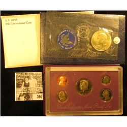 1981 U.S. Mint Set, Original as issued; 1973 S BU Silver Eisenhower Dollar in original blue pack; &