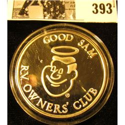 """Good Sam RV. Owners' Club"", ""Good Sam/.999 Fine Silver/Smiling Faces/Going Places/1988/Rose Parade"