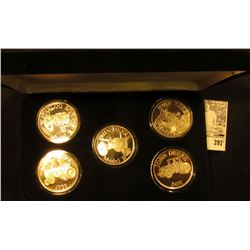 "Five-piece Set One Ounce .999 Fine Silver Medallions ""Model R"", ""Model GP"", ""Model H"", ""John Deere 4"