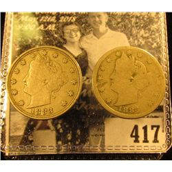 1883 With Cents (damaged, but Good) & 1883 NC Liberty Nickel VF.