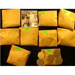 (5) 1899, (6) 1901, (4) 04, (11) 05, (18) 06, (11) 07, (16) 10, & (8) 1912 P U.S. Liberty Nickels in