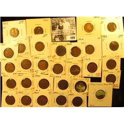 (8) 1902, (4) 1903, (5) 1904, (7) 1905, & (6) 1906 Indian Head Cents. All carded and ready for sale.