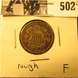 1869 Shield Nickel, Fine but rough.